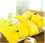 Lenjerie de pat dublă, bumbac de finet, 6 piese, model Pineapple