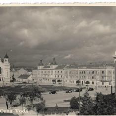 Carte poștală – Piața Cuza Vodă Cluj