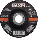 Disc slefuit metal 115 x 6 x 22 mm Yato YT-6121