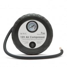 Compresor aer Deligt, 12V, 4/7 bar, 18 x 7 cm