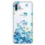 Cumpara ieftin Husa Samsung Galaxy A50 model Blue Flowers Painting, Antisoc, Viceversa