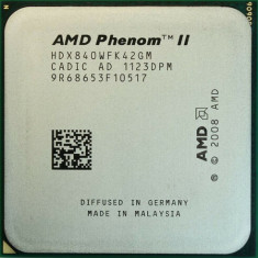 Procesor AMD Quad Core Phenom IIX4 840 3.2GHz socket Am2+ AM3 Am3+ 95W si pasta, 4