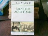 MEMORII AQUA FORTE - E. LOVINESCU