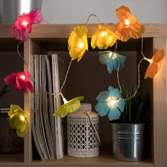 Ghirlanda LED cu Flori Multicolore (10 LED)
