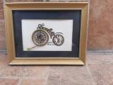 Colaj original orologerie ceas L Kersh Londra tablou decor vechi