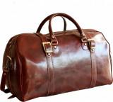 Geanta voiaj din piele naturala vachetta, bagaj de mana avion, GV117