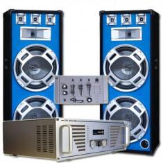"Electronic-Star Set complet Boxe DJ ""Bouncer"" Amplificator- Mixer"