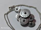 BULGARI argint MEDALION Luxury OPULENT manopera EXCEPTIONALA superb+ Lant argint