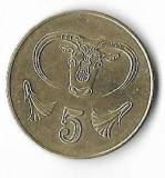 Moneda 5 cents 2004 - Cipru, Europa
