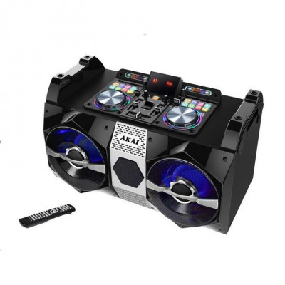 Sistem audio Akai DJ-530, Bluetooth, DJ effects, negru foto