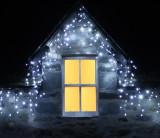 Cumpara ieftin Instalatii 12m perdea franjurata turturi LED Craciun MULTICOLOR alb rce albastru