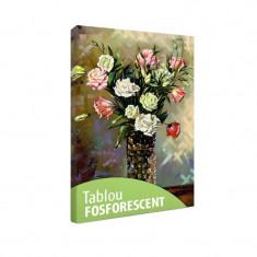 Tablou fosforescent Trandafiri in vaza