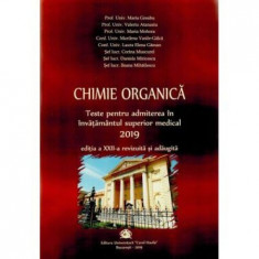 Chimie organica - Carol Davila.Teste pentru admitere  2019