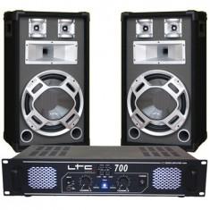 SET BOXE 12 inch BASIC GRI + AMPLIFICATOR LTC700