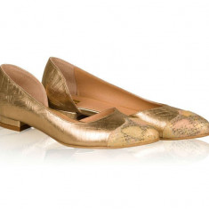Balerini piele naturala Dea Zarina - sau Orice Culoare