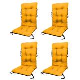 Set Perne pentru scaun de gradina sau sezlong, 48x48x75cm, culoare galben, 4 buc/set