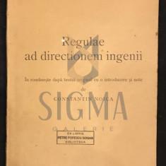 RENE DESCARTES [ traducere CONSTANTIN NOICA ] - REGULAE AD DIRECTIONEM INGENII, 1935 BRASOV