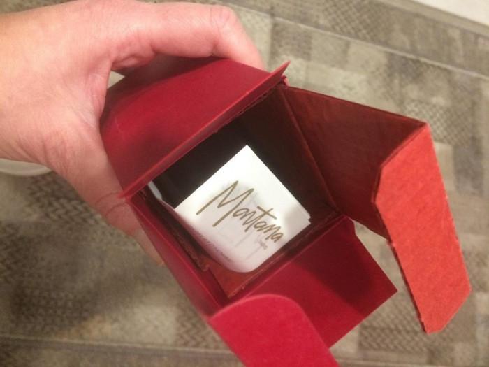 CLAUDE Montana rosu -VINTAGE parfum after shave 75 ml- France vintage D'Homme