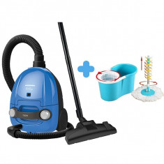 Pachet curățenie Aspirator Heinner Blue + Mop rotativ