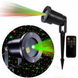 Laser Proiector tip Star Shower Rosu Verde Senzor, Telecomanda LZ9606