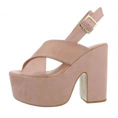 Sandale moderne, roz, cu platforma foto