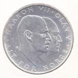 Moneda Norvegia 25 Kroner 1970 - KM#414 UNC ( argint , comemorativa, in holder )