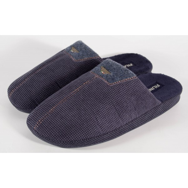 Papuci de casa bleumarini pentru barbati/barbatesti (cod 192-31346)