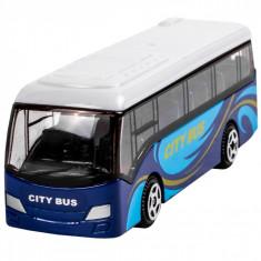 Autobuz de jucarie in miniatura, 8x3x3cm, albastru