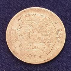 Moneda din argint  2 Lei 1873  Regele Carol Romania