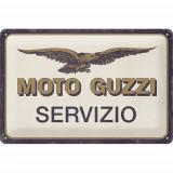 Placa metalica Moto Guzzi - Servizio 20x30cm