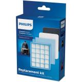 Kit de schimb PowerPro Active si PowerPro Compact FC8058/01, 1 filtru HEPA, interior de burete, 2 filtre de evacuare, Philips