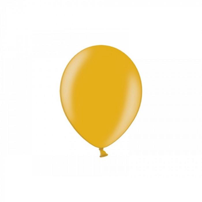 Baloane rotunde metalizate, 27 cm, auriu, 10buc