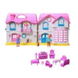 Casuta cu papusi Dreamy Dollhouse, 13 accesorii, multicolor