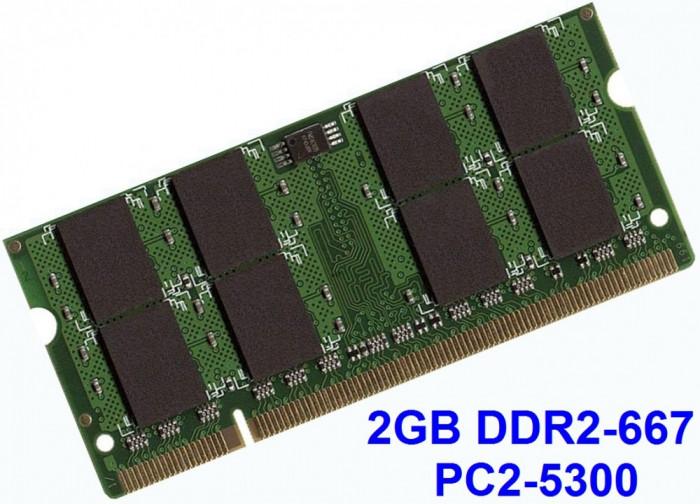 2GB DDR2-667 PC2-5300 667MHz , Memorie LAPTOP DDR2 , Testata cu Memtest86+