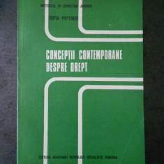 SOFIA POPESCU - CONCEPTII CONTEMPORANE DESPRE DREPT