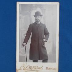 FOTOGRAFIE VECHE PE SUPORT DE CARTON , L. SOLLELLIAND , MONTPELLIER , 1903