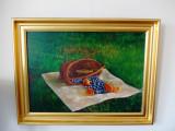 """Andrei DAMO (n.1954) """"Dejun pe iarbă""""-83x63 cm"""