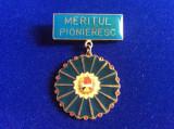 Insignă pionieri - Insignă România - Pionier - Meritul Pioneresc