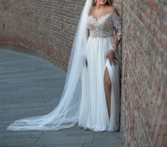 Rochie de mireasa + voal CADOU foto