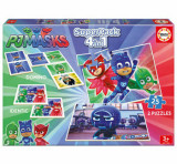 Cumpara ieftin Superpack PJ Masks - 2 x puzzle, memo game, domino