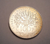 Franta 100 Franci Francs 1983 UNC Argint Piesa de Colectie