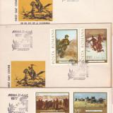 1977 LP 933 LP 934   CENTENARUL INDEPENDENTEI DE STAT  SERIE  FDC, Stampilat