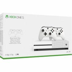 Consola Xbox One S 1TB alba cu 2 controllere