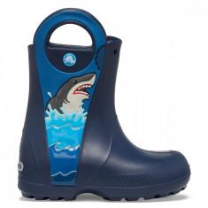 Cizme Băieți de ploaie Crocs Crocs Fun Lab Shark Patch Rain Boot