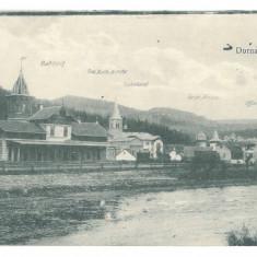 3443 - VATRA DORNEI, Bukowina, railway Station, Romania - old postcard - unused, Necirculata, Printata