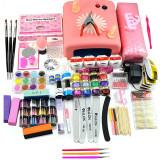Kit Unghii False cu Gel UV - Promotie #17 + CADOU Set 3 Pensule Nail-Art, Fraulein38