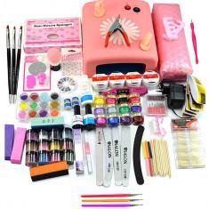 Kit Unghii False cu Gel UV - Promotie #17 + CADOU Set 3 Pensule Nail-Art