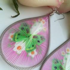 Cercei Lungi Fashion Deosebiti Cu Model De Fluture