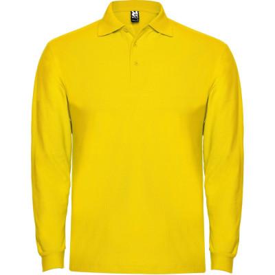 Tricou polo bartati Long Sleeve Estrella Men Polo Shirt yellow PO6635YELLOW foto