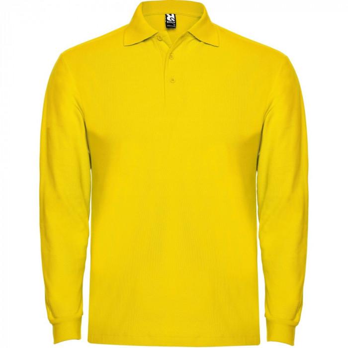 Tricou polo bartati Long Sleeve Estrella Men Polo Shirt yellow PO6635YELLOW